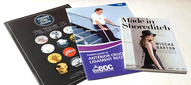 We specialise in a range of booklet printing from our London workshop to deliver direct to you
