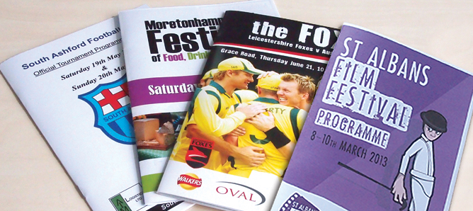 Our programme printing services allow perfectly finished printed sales aids every time